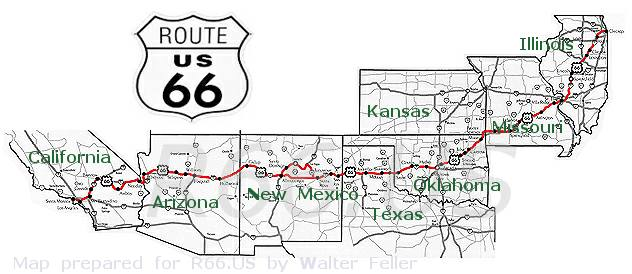 Map Of California Route 66.Map Of Route 66